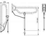 Toiletbeugel opklapbaar op poot LinidoSolutions™
