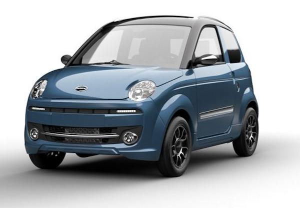 45 km auto Microcar M.GO blauw
