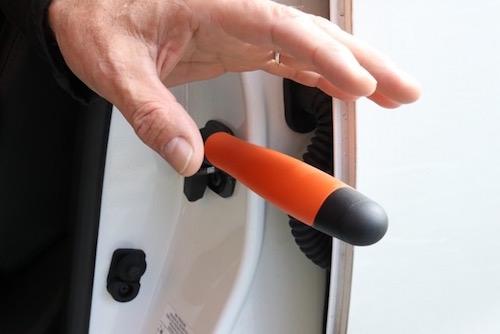 Auto handgreep Easy-Exit Grip gebruik
