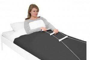 Makkelijk omhoogkomen in bed door je op te trekken met de bedtouwladder