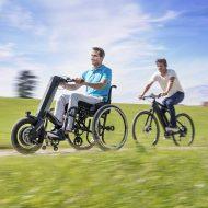 Elektrische handbike rolstoel E-Pilot van Alber