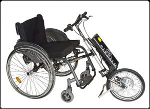 Elektrische handbike rolstoel E-bike Roam
