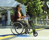 Elektrische handbike rolstoel One van Nino