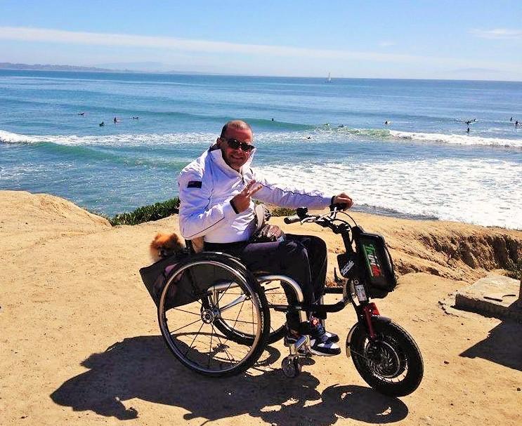 Elektrische handbike rolstoel Triride gebruik
