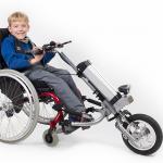 Elektrische motor rolstoel Firefly van Rio Mobility kind