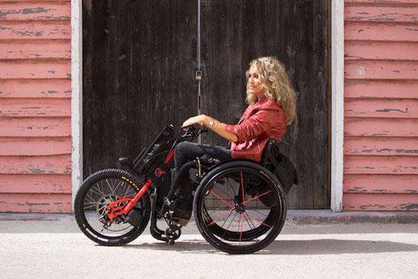 Handbike Batec Electric van Mobility Products gebruik