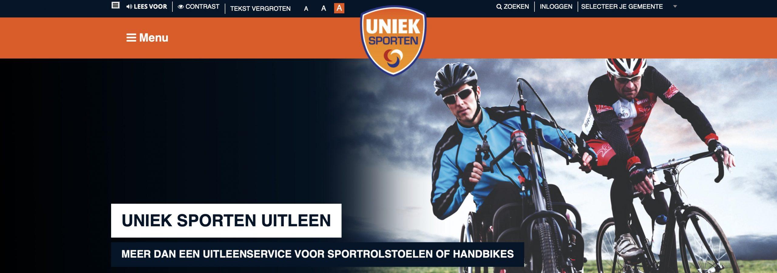 Header website uniek sporten
