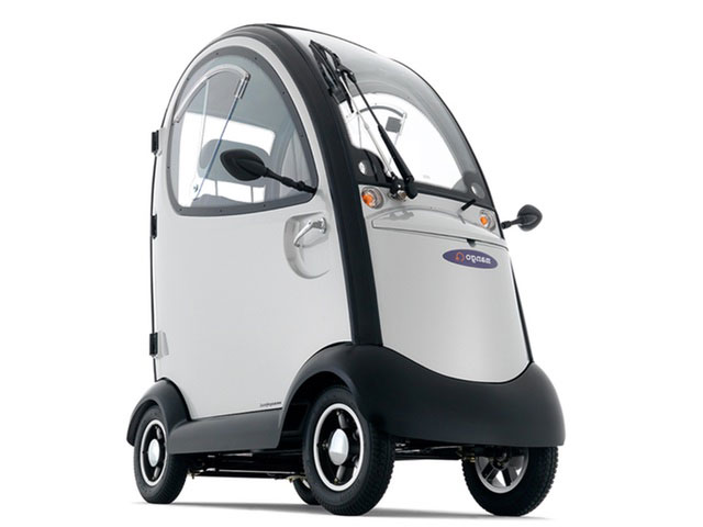 Overdekte scootmobiel Napoleon Mango Mobility zilver