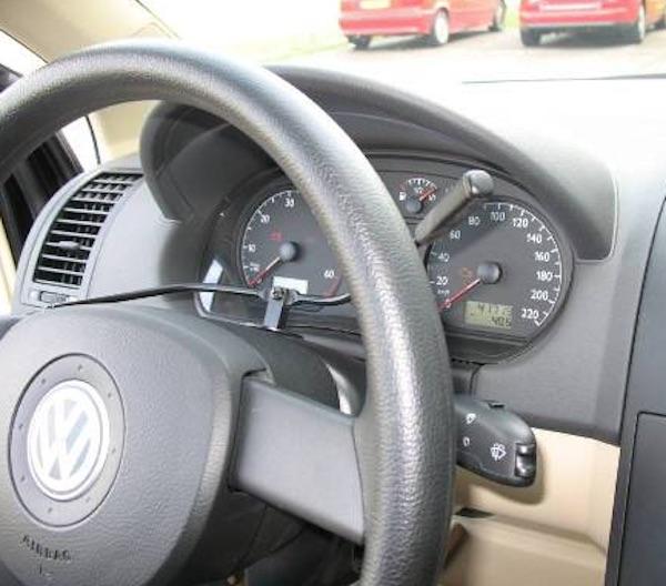Richting aangepast in auto