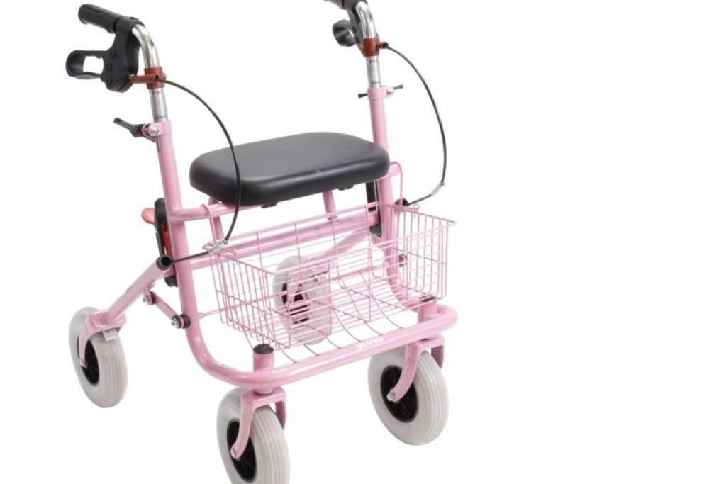 Kleine rollator Provo roze