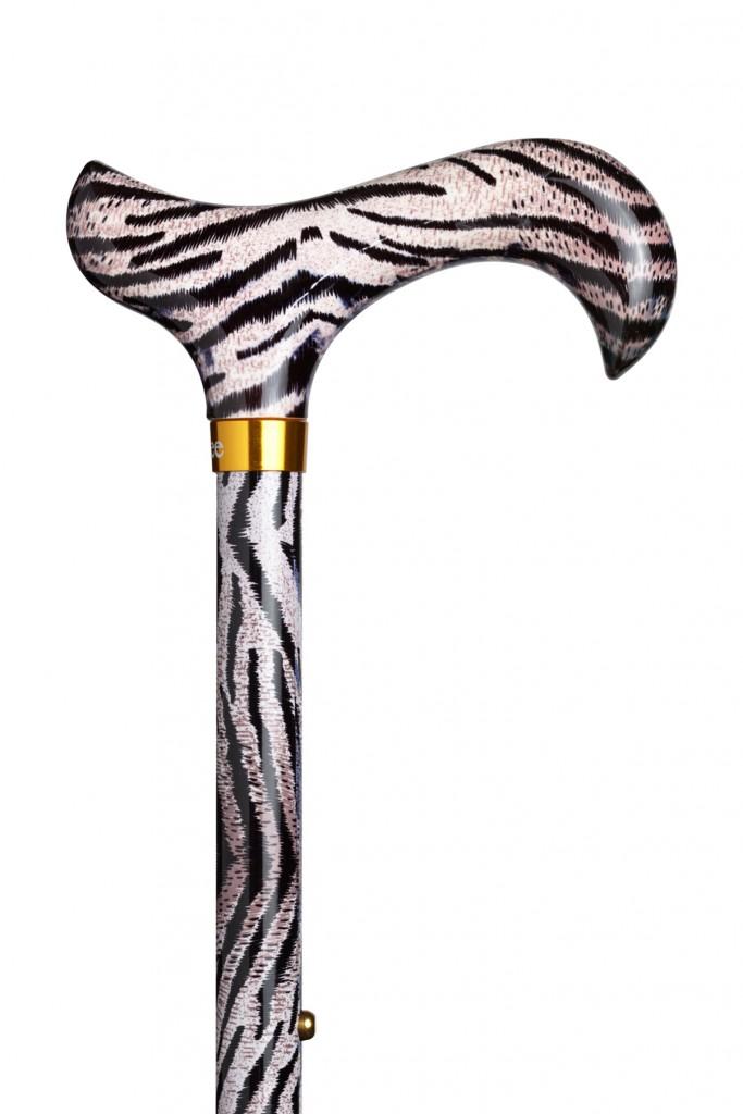 Verstelbare wandelstok Ninee zebra